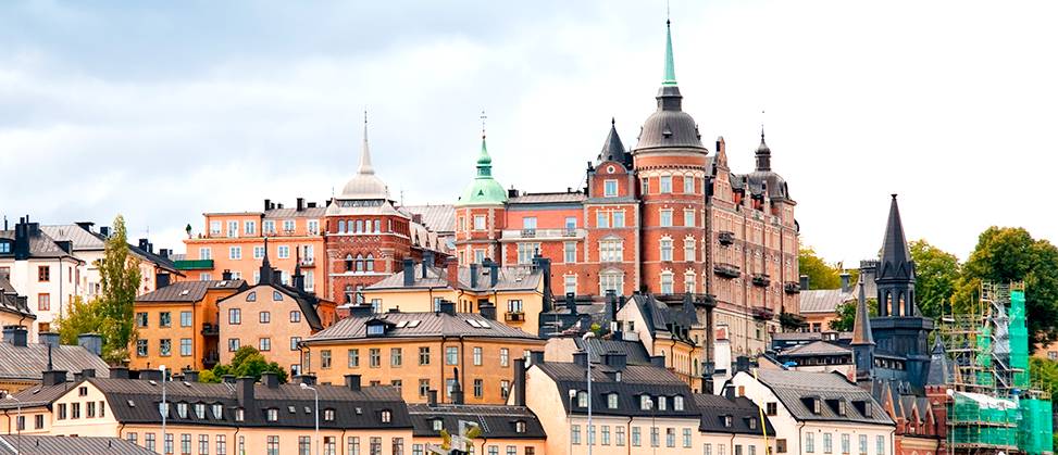 View of Stockholm - Houses of Södermalm