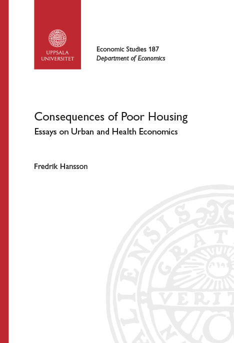 Cover of the thesis Consequences of Poor Housing